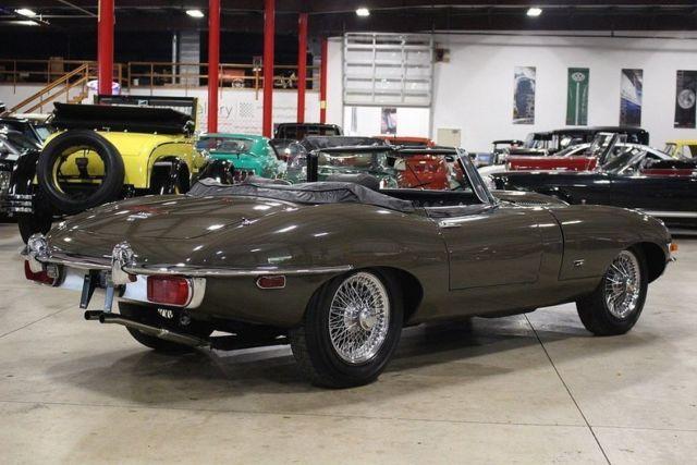 1971 jaguar xke 49433 miles sable brown roadster 4 2 liter dohc inline 6 4 spee classic jaguar. Black Bedroom Furniture Sets. Home Design Ideas