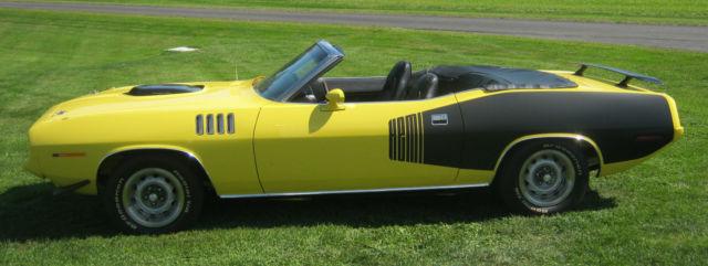1971 plymouth cuda 426 hemi convertible clone 4 speed mopar dana 60 all options classic. Black Bedroom Furniture Sets. Home Design Ideas