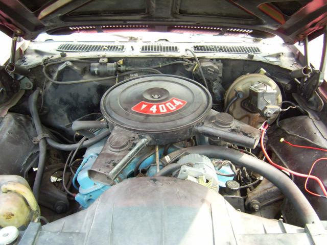 1971 Pontiac GTO Base 6 6L Red 400 auto 411 posi headers