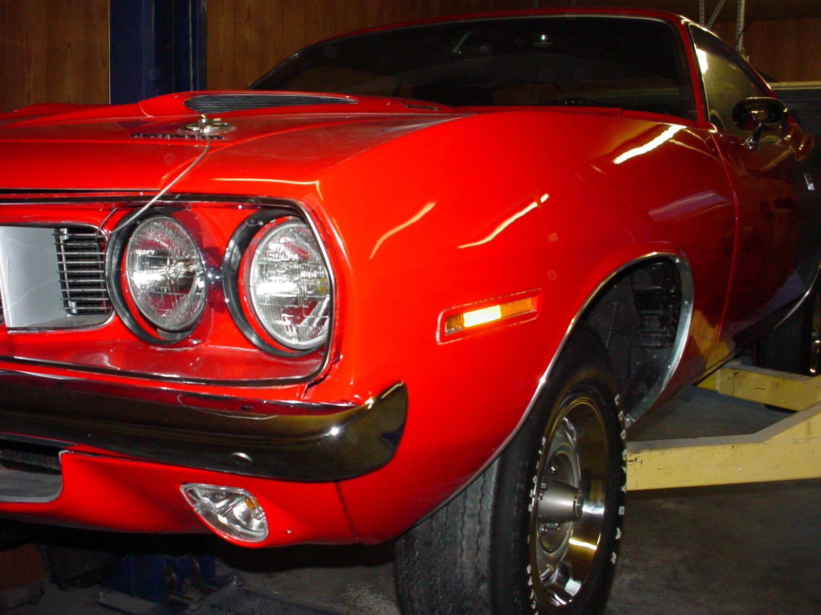 1971 rally red plymouth cuda 340 rust free 355 posi  rally