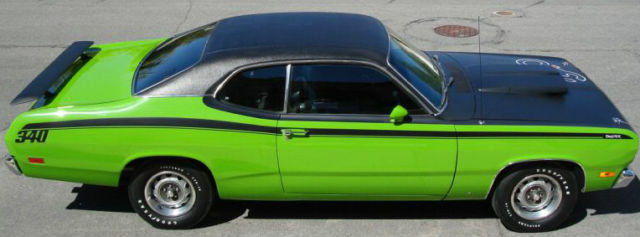 1971 Sassy Grass Green Plymouth Duster 340 Fully Restored