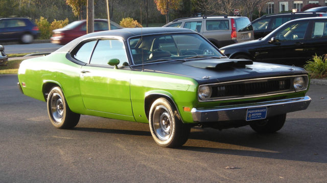 1971 sassy grass green plymouth duster 340 fully restored numbers matching classic plymouth. Black Bedroom Furniture Sets. Home Design Ideas