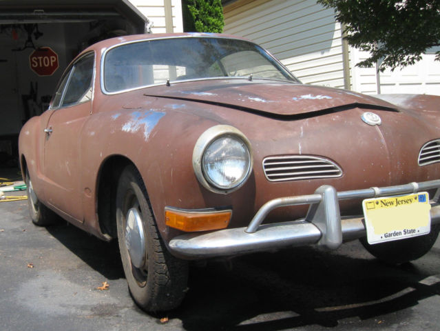 1971 Volkswagen Karmann Ghia Restore Project With Parts - Classic Volkswagen Karmann Ghia 1971 ...