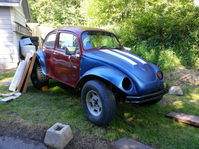 vw baja bug project  rib bus transmission  finished classic volkswagen beetle