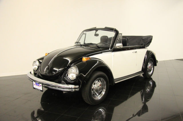 1971 VW Beetle Attractive Two-Tone Black/White over Blue! Carbureted 4-Speed! - Classic ...