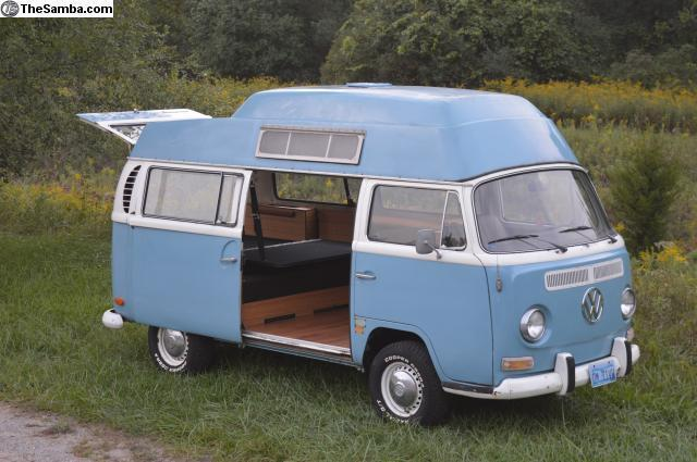1971 vw bus camper california high top adventurewagen watch video classic volkswagen bus. Black Bedroom Furniture Sets. Home Design Ideas