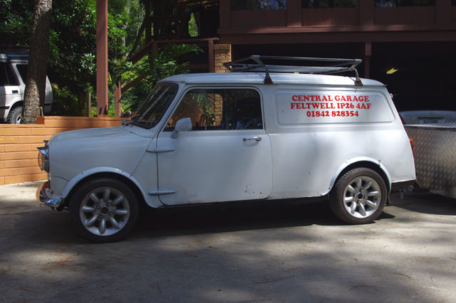 1972 austin mini cooper clubman van commercial 1275 with trailer classic mini classic mini. Black Bedroom Furniture Sets. Home Design Ideas