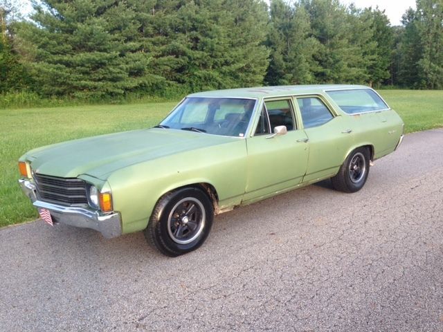 1972 Chevelle Green Brier Station Wagon Big Block 454