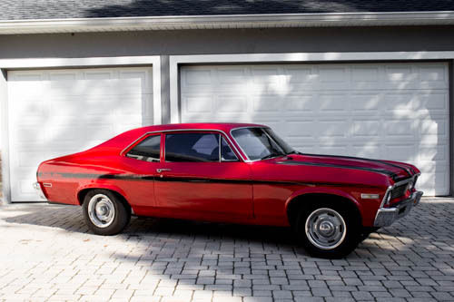 1972 CHEVROLET CHEVY NOVA WITH RALLY SPECIAL STRIPE KIT MUSCLE CAR