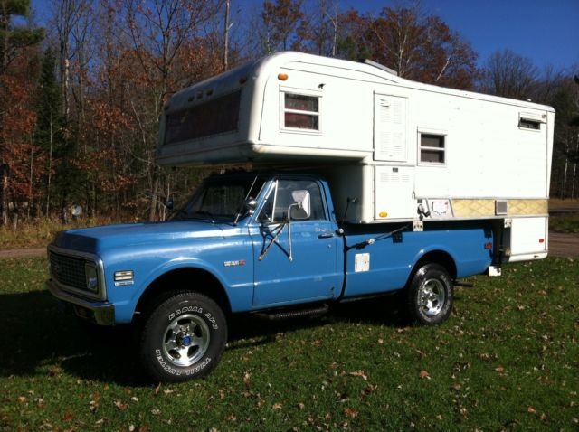 1972 Chevy 4X4 Custom Camper Truck With Vintage