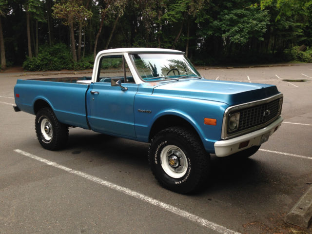 1972 Chevy Truck 3 4 Ton Factory K20 4x4 Solid 350 Auto