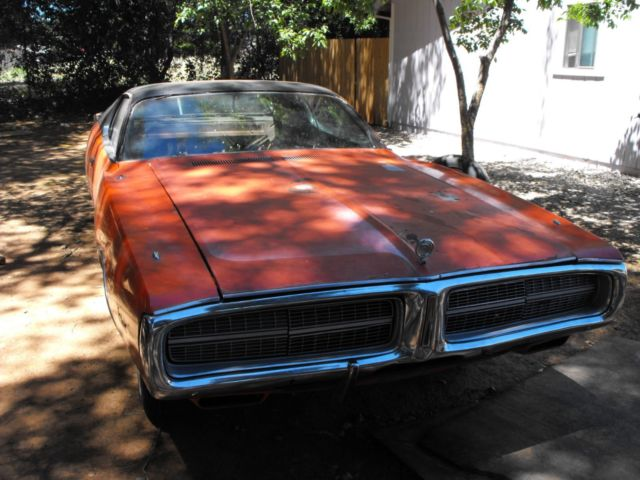 1972 Dodge Charger Se Ev2 Hemi Orange 400 Big Block Car Project