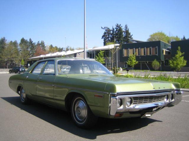 1972 Dodge Polara Sedan 318 V8 Classic Dodge Polara 1972
