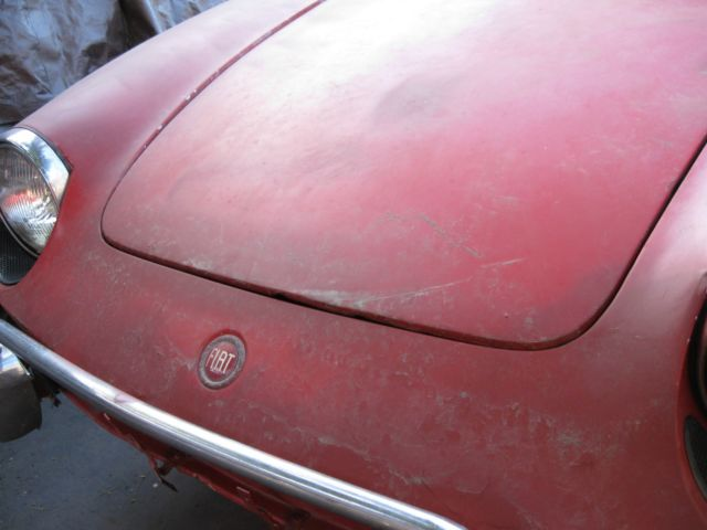 Fiat Sport Spider Convertible For Restoration Solid Dry Straight Calif