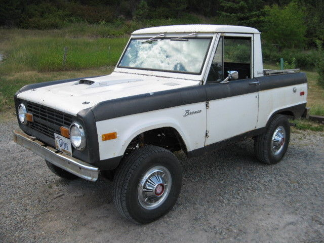 1972 Ford Bronco Half Cab U14 Uncut, 302, 3 spd Manual, Runs and Drives Great - Classic Ford ...