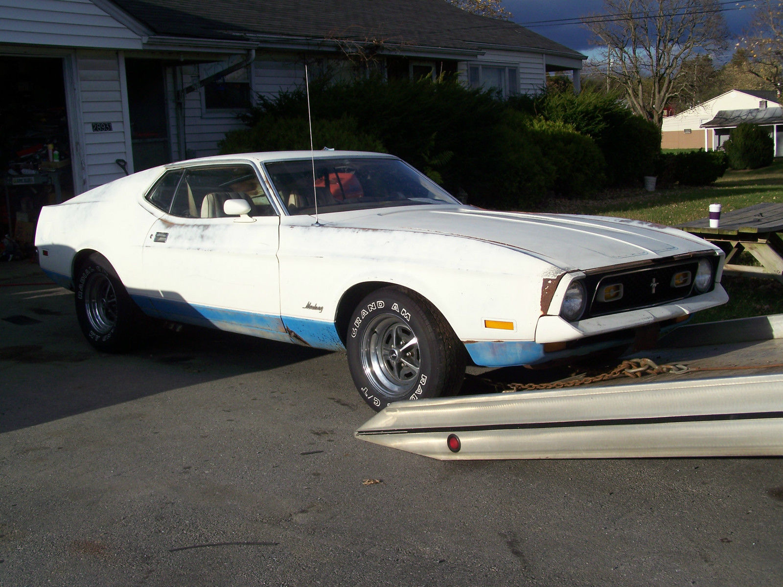 1972 ford mustang fastback sprint edition q code cobra jet project car