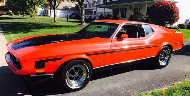 1972 ford mustang mach 1 with 429 cobra jet in like new. Black Bedroom Furniture Sets. Home Design Ideas