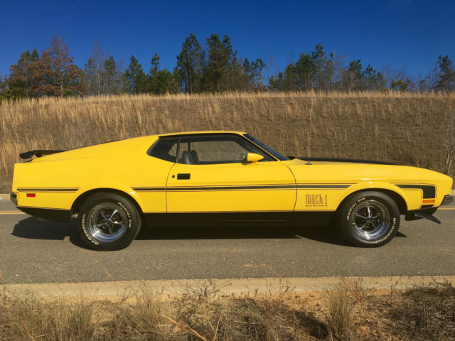 1972 Ford Mustang Mach I 351 C Cobra Jet Classic Ford Mustang 1972