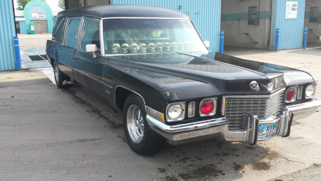 1972 Miller Meteor Cadillac Hearse Ready For HALLOWEEN Car of Death