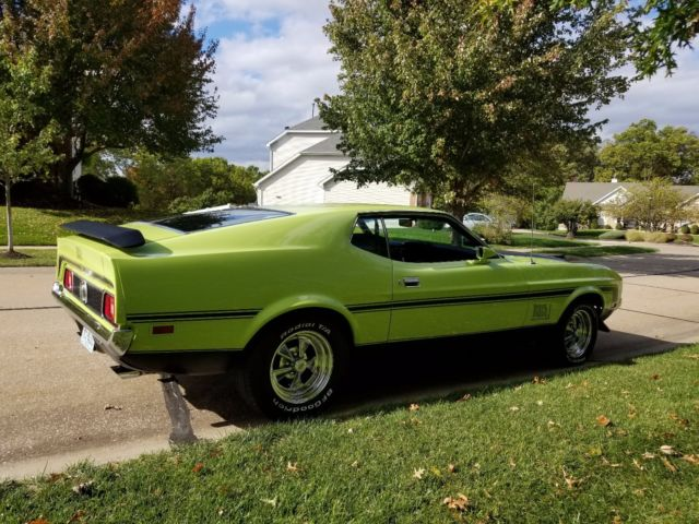 1972 Mustang Mach 1 351c Legend Lime Green Looks And