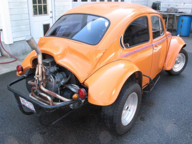 1972 Orange Baja Bug Super Beetle Classic