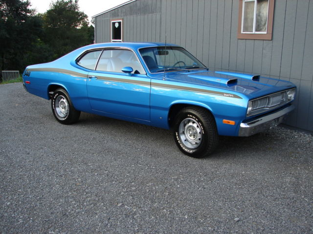 1972 plymouth duster 340 4 speed factory h code rotisserie restored show car classic. Black Bedroom Furniture Sets. Home Design Ideas