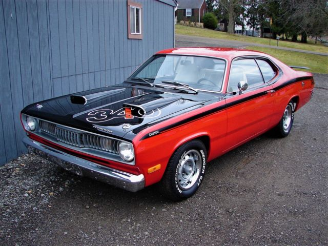 1972 plymouth duster 340 h code, 4 speed, console, buckets, p s1972 plymouth duster 340 h code, 4 speed, console, buckets, p s, disc brakes!