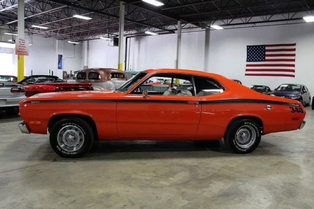 1972 plymouth duster 46388 miles orange coupe 340ci v8 3 speed automatic classic plymouth. Black Bedroom Furniture Sets. Home Design Ideas