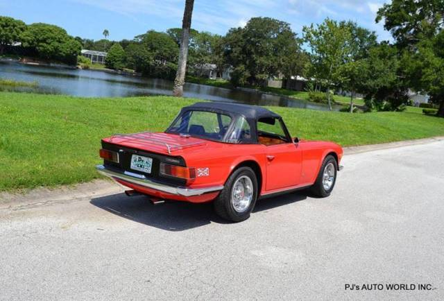 1972 triumph tr6 convertible 617 miles red convertible v6 2 5l manual classic triumph tr 6. Black Bedroom Furniture Sets. Home Design Ideas