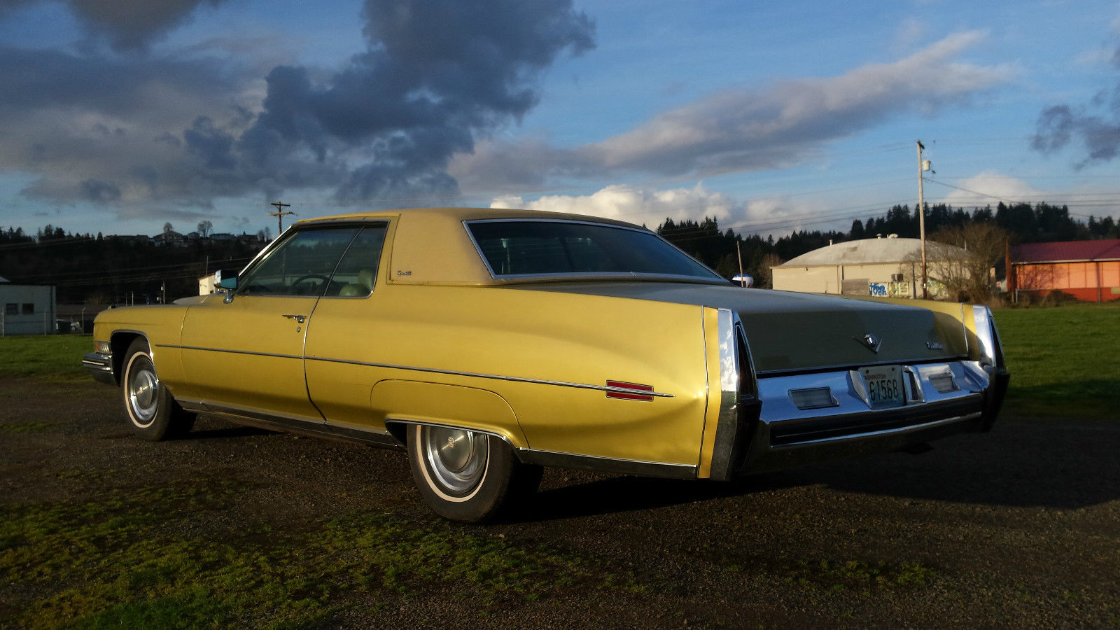 Cadillac Coupe Deville Gold On Gold Owner K Original Miles