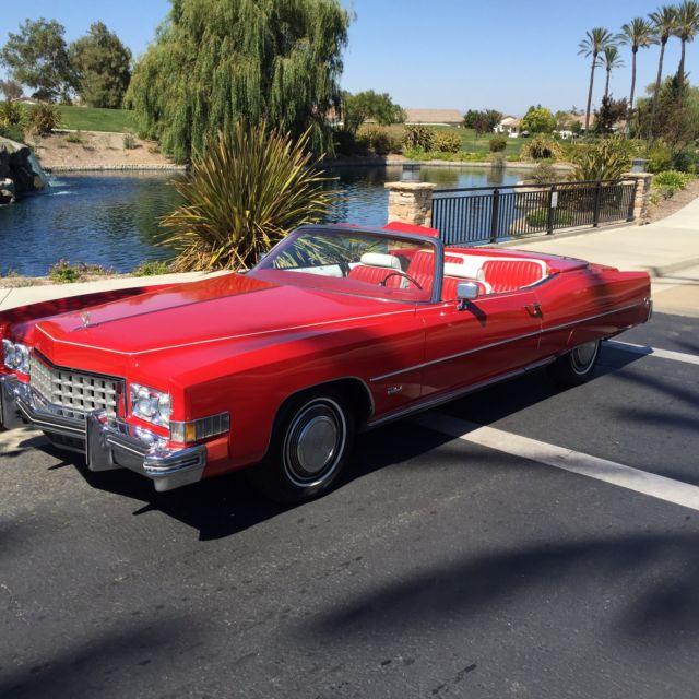 1973 Cadillac Eldorado Red Convertible 2-Door 8.2L