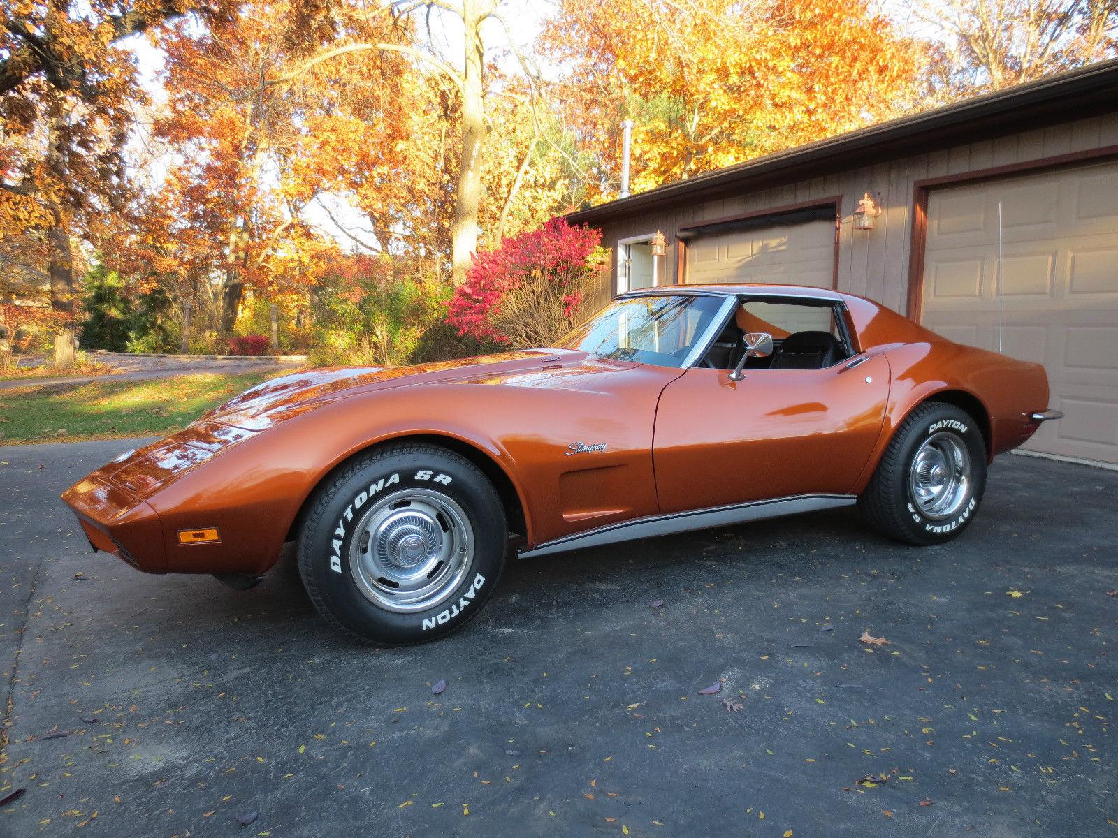 Chevrolet Corvette T Top L Speed Atomic Orange Beaustiful Car