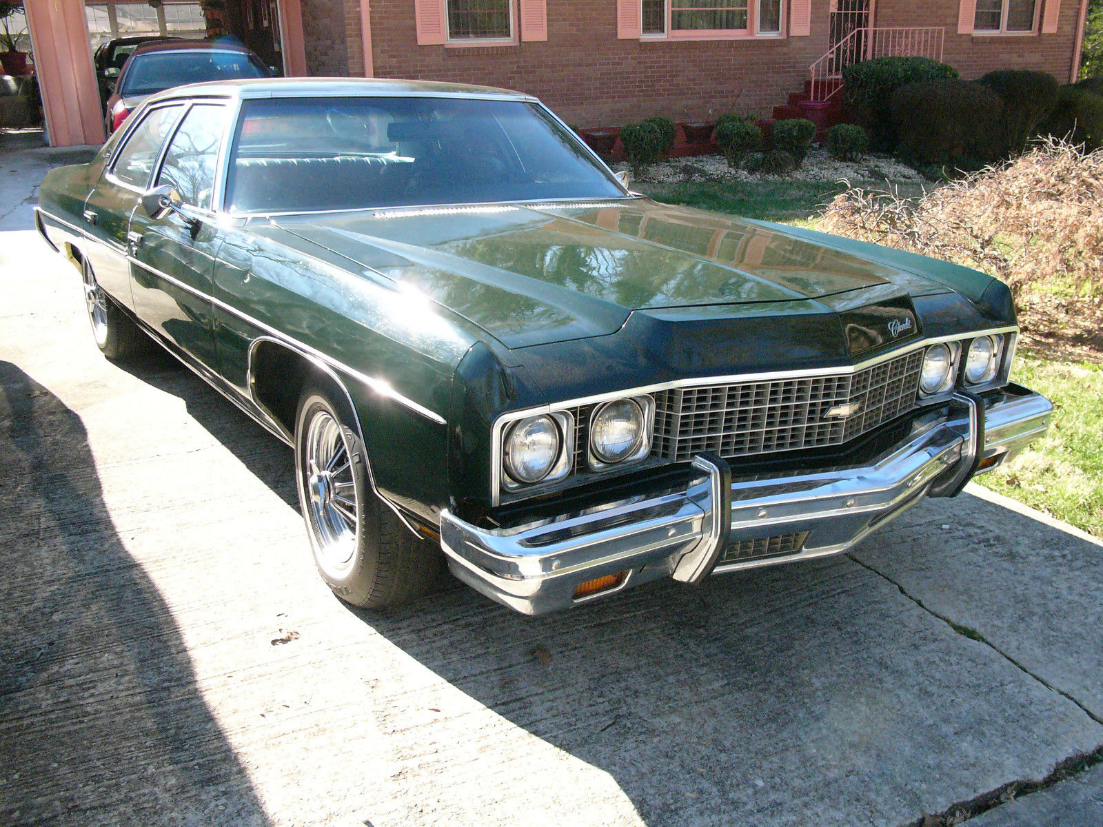 1973 chevrolet impala 4 door green on green classic chevrolet impala 1973 for sale. Black Bedroom Furniture Sets. Home Design Ideas