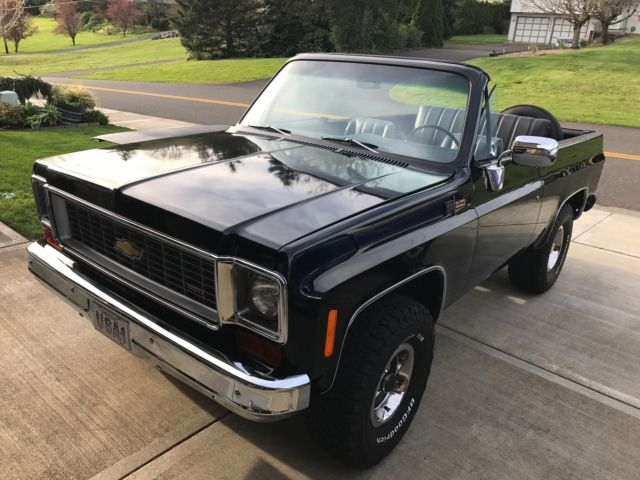 1973 Chevrolet K5 Blazer Full Top Convertible Black On Factory Coded Chevy