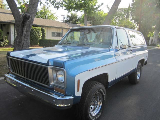 1973 Chevy Blazer K5 4X4. Original California car ...