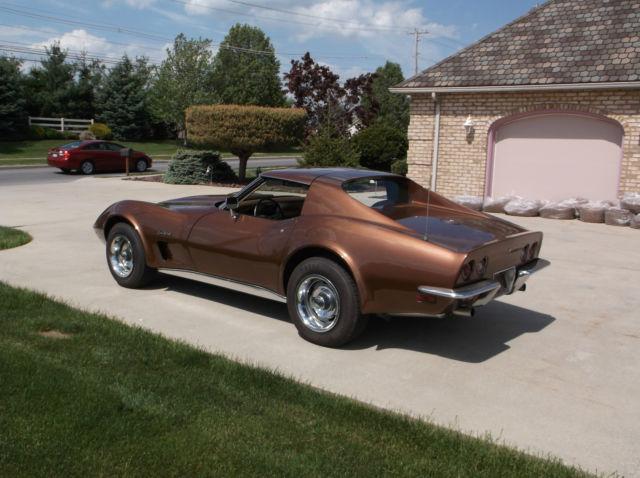 1973 chevy corvette 350 4 speed copper bronze metallic not 1968 1970 1971 1972 classic. Black Bedroom Furniture Sets. Home Design Ideas