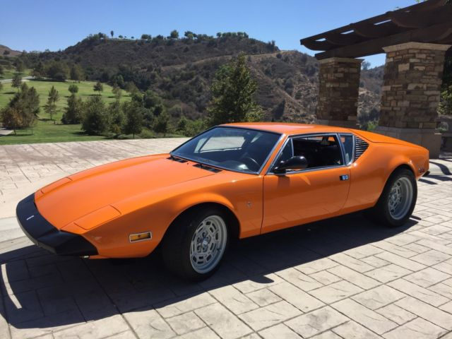1973 detomaso pantera orange 383 stroker classic de tomaso pantera 1973 for sale. Black Bedroom Furniture Sets. Home Design Ideas