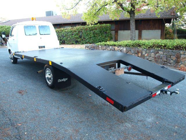 Used Flat Bed Car Hauler Truck