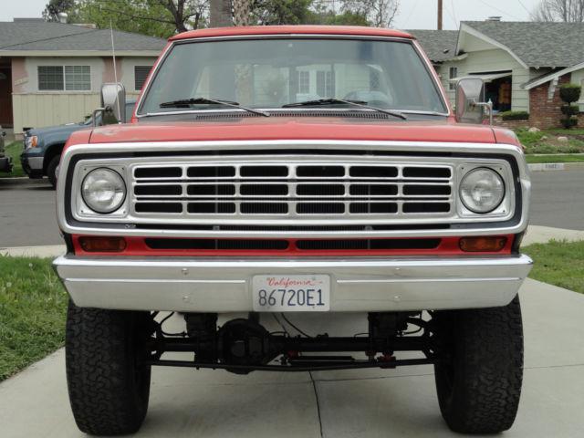 Dodge Power Wagon Adventurer X Orange And Black With Lift Kit Running on 1980 Dodge 4 Door Truck