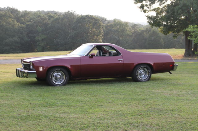 1973 El Camino Ss 454 Maroon In Color New Seat Covers Headliner And Dash Classic Chevrolet El Camino 1973 For Sale