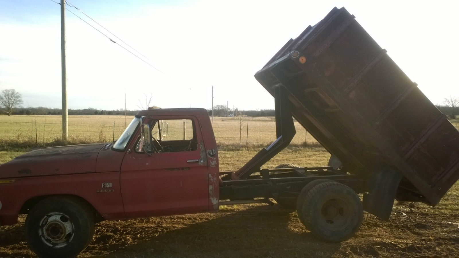 1973 Ford F 350 Dump Truck 1 Ton Grain Bed Dump Bed Disc