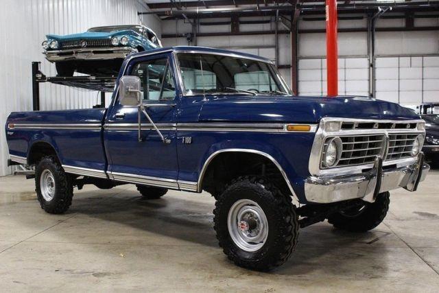 1973 Ford F100 29053 Miles Blue Pickup Truck 460 V8 ...