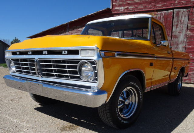 1973 ford f100 ranger xlt automatic original paint must see shortbox classic ford f 100. Black Bedroom Furniture Sets. Home Design Ideas