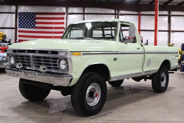 1973 ford f250 93764 miles wintergreen pickup truck 360 v8 manual classic ford f 250 1973 for sale. Black Bedroom Furniture Sets. Home Design Ideas