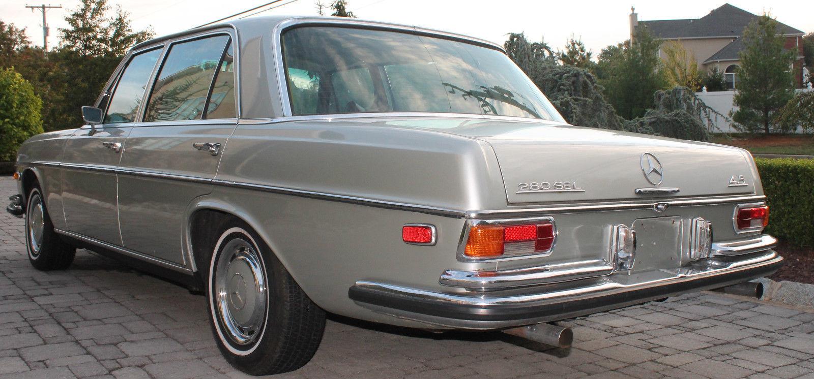 1973 mercedes benz 280sel 4 5 liter 94k 108 floor shift for Mercedes benz 5 series