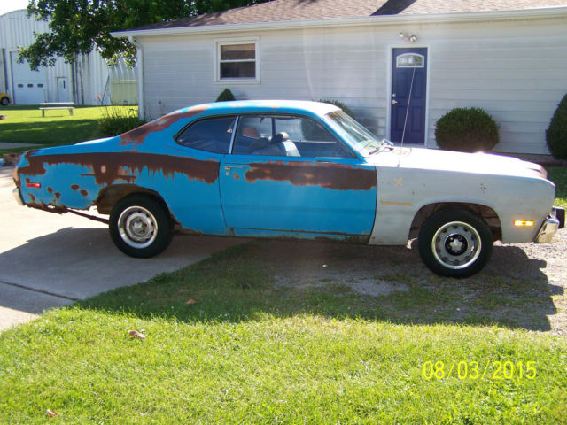 1973 plymouth duster 340 4 speed petty blue space duster bench seat classic plymouth duster. Black Bedroom Furniture Sets. Home Design Ideas