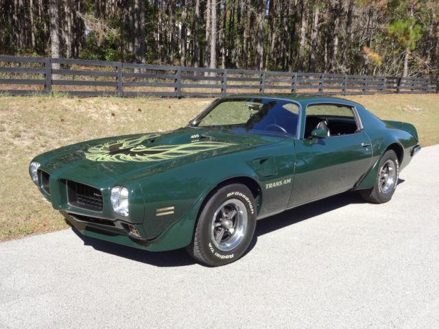 1973 Pontiac Trans Am Brewster Green 4 Speed Classic