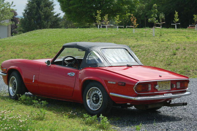 1973 Triumph Spitfire Red Convertible Sports Car Good Condition Classic