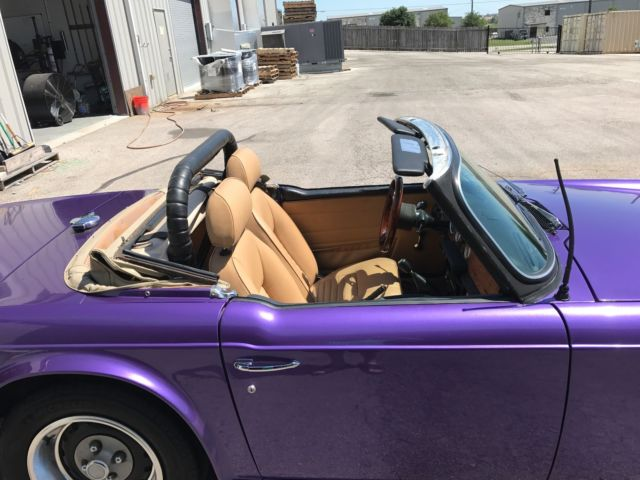 1973 triumph tr6 resto mod plum crazy purple paint with tan leather interior wow classic. Black Bedroom Furniture Sets. Home Design Ideas