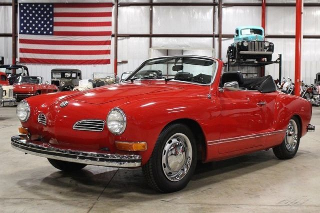 1973 volkswagen karmann ghia 86993 miles carmine red convertible 1600cc i4 4 sp classic. Black Bedroom Furniture Sets. Home Design Ideas